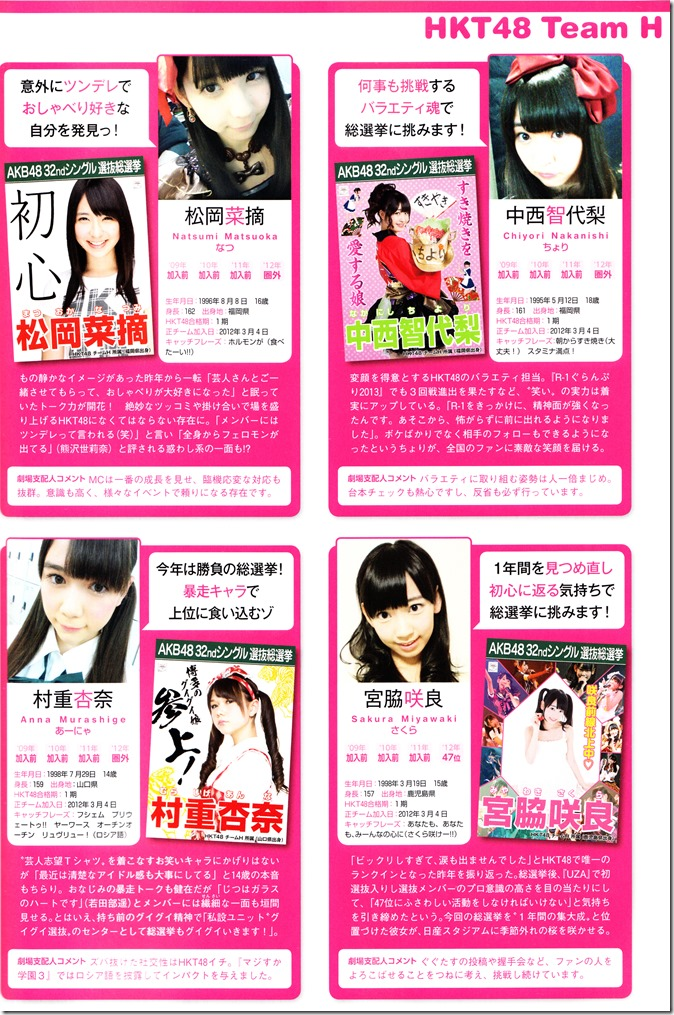 AKB48 Sousenkyo Official Guide Book (113)
