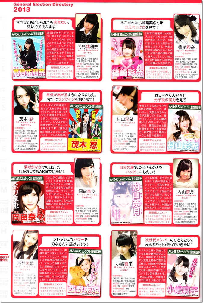 AKB48 Sousenkyo Official Guide Book (118)