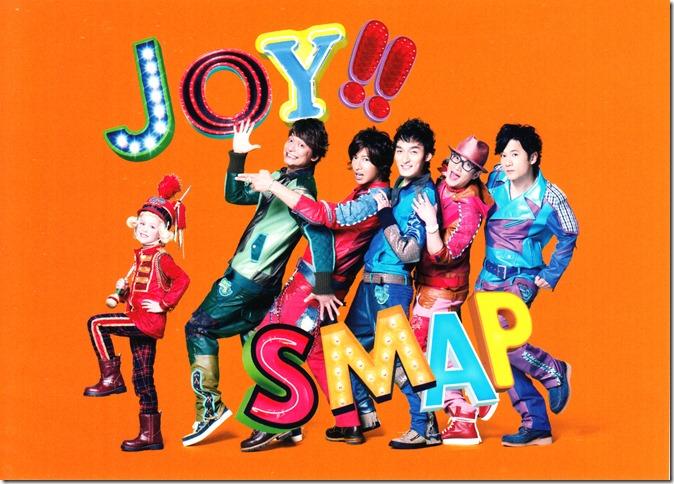 Smap Joy!! Vivid Orange first press post card