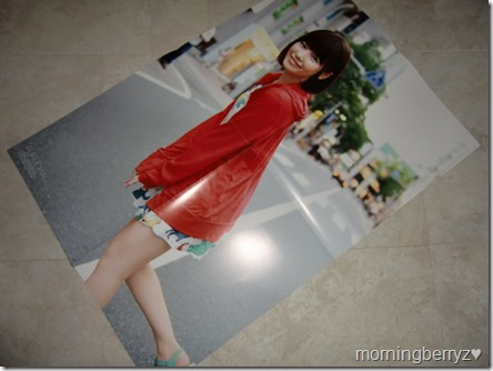 Shimazaki Haruka 1st shashinshuu Paruru, komaru. Fukuoka edition 2-sided poster