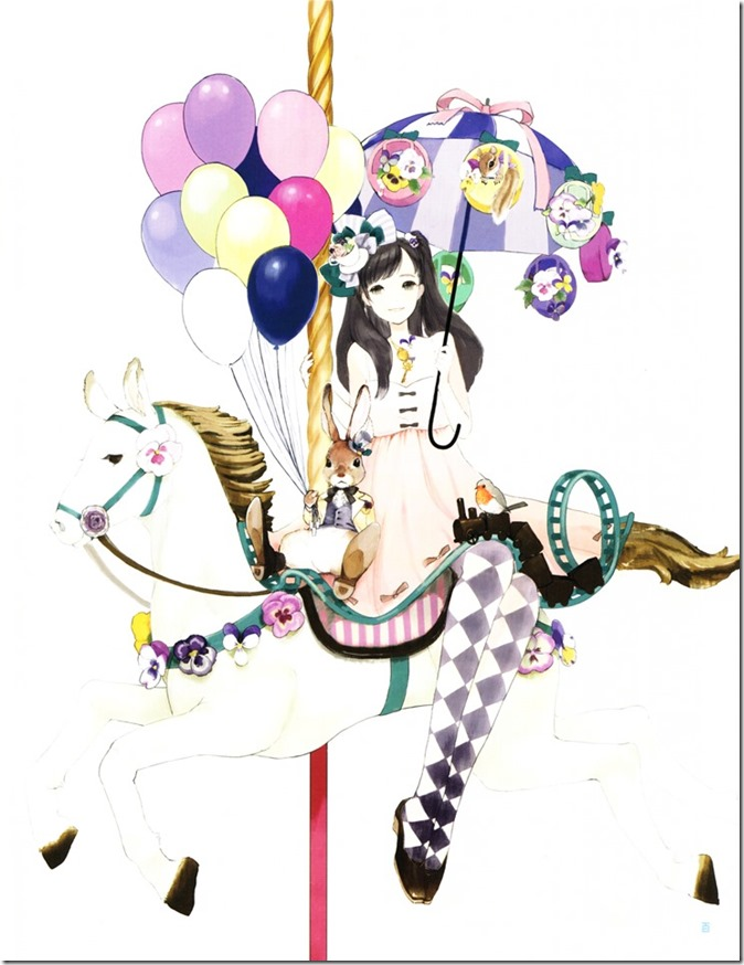 Watanabe Mayu Rappa Renshuuchuu LE illustration booklet (2)