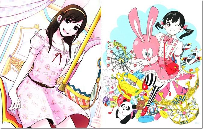 Watanabe Mayu Rappa Renshuuchuu LE illustration booklet (4)