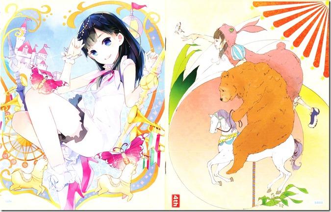 Watanabe Mayu Rappa Renshuuchuu LE illustration booklet (6)