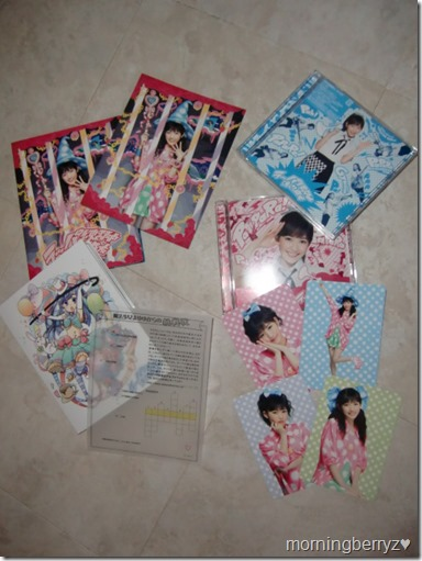 Watanabe Mayu Rappa Renshuuchuu singles types A, B, LE and LE with DVD editions with first press application picture cards