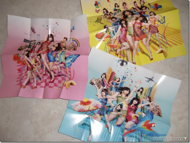 AKB48 Koisuru Fortune Cookie singles Types A, K & B two sided posters (cover side)
