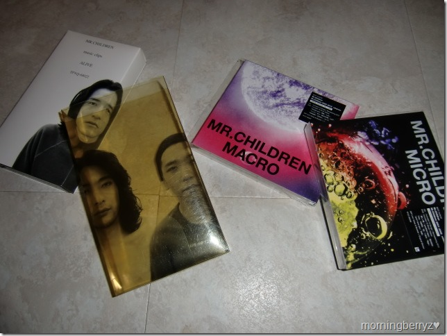 Mr.Children visual collections on VHS and DVD