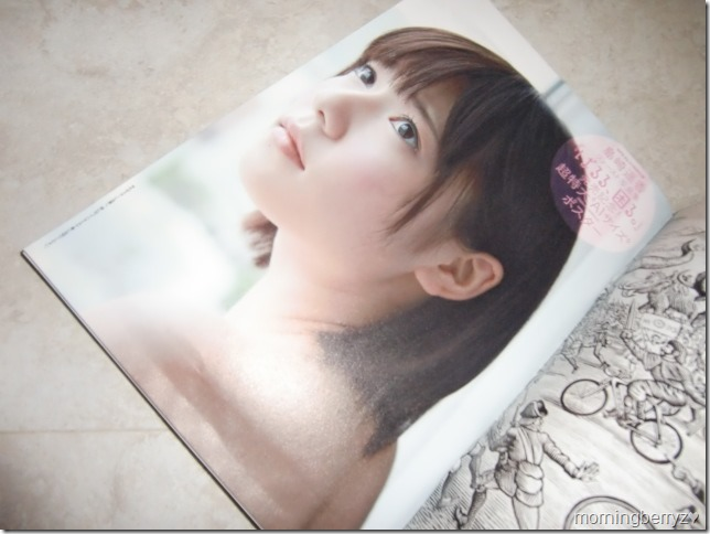 Weekly Playboy no.31 August 5th, 2013 A1 double sided Shimazaki Haruka poster