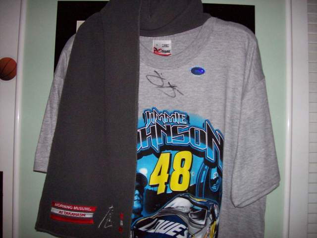 Jimmie Johnson autographed T-shirt