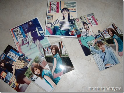 Maeda Atsuko Time machine nante iranai LE singles Types A & B with first press photo extras (external & internal photos)
