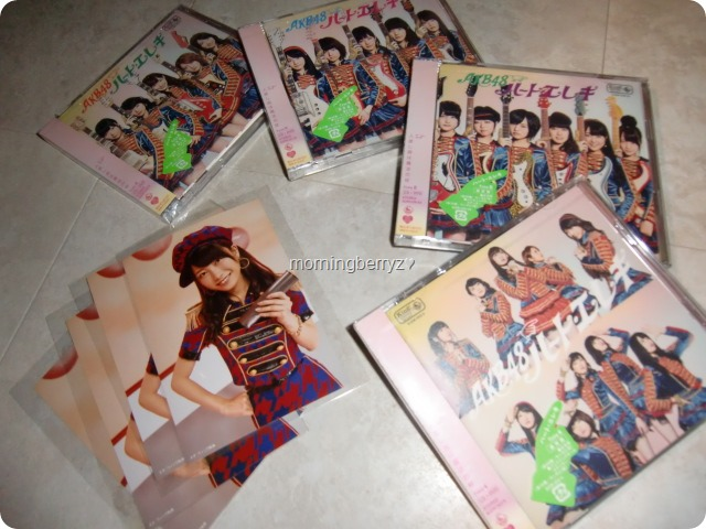 AKB48 Heart Ereki single types A, K, B & 4 with first press Neowing external photo extras