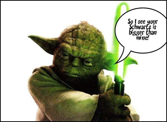 Yoda notices....