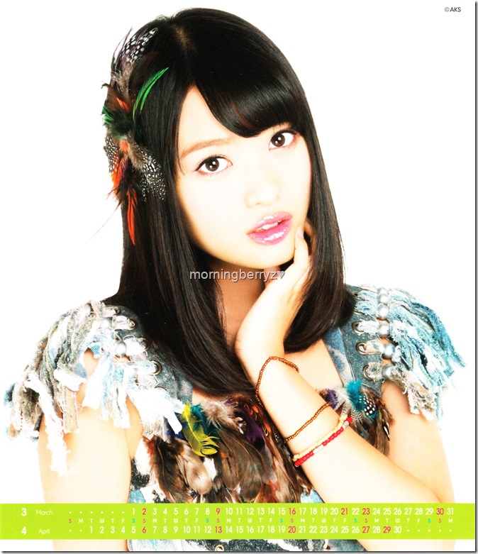 Kitahara Rie 2014 Desktop Calendar (3)