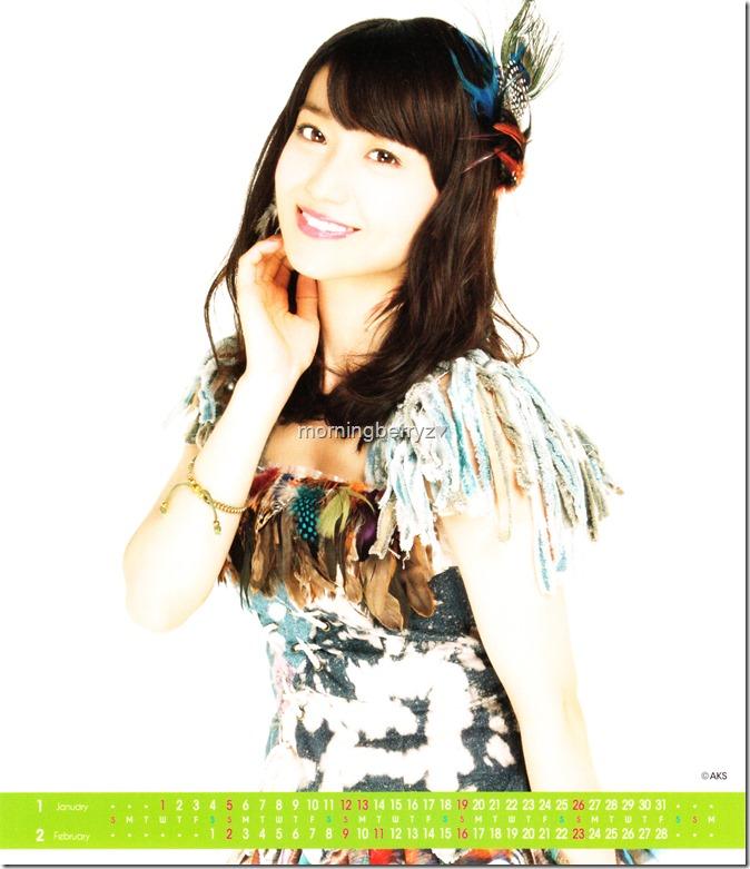 Oshima Yuko 2014 Desktop Calendar (2)