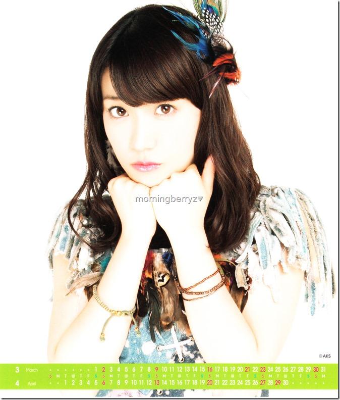 Oshima Yuko 2014 Desktop Calendar (3)