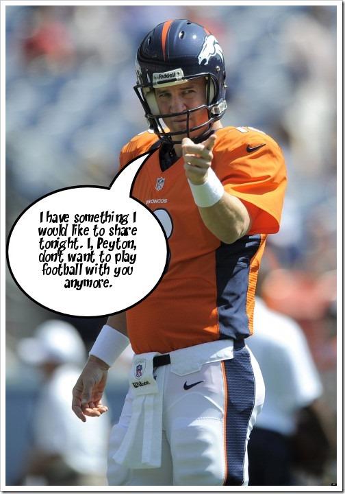 Peyton says....