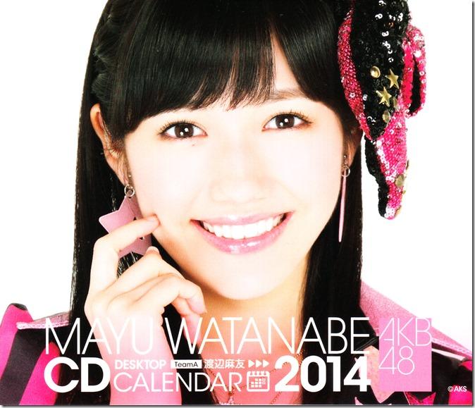 Watanabe Mayu 2014 Desktop Calendar (1)