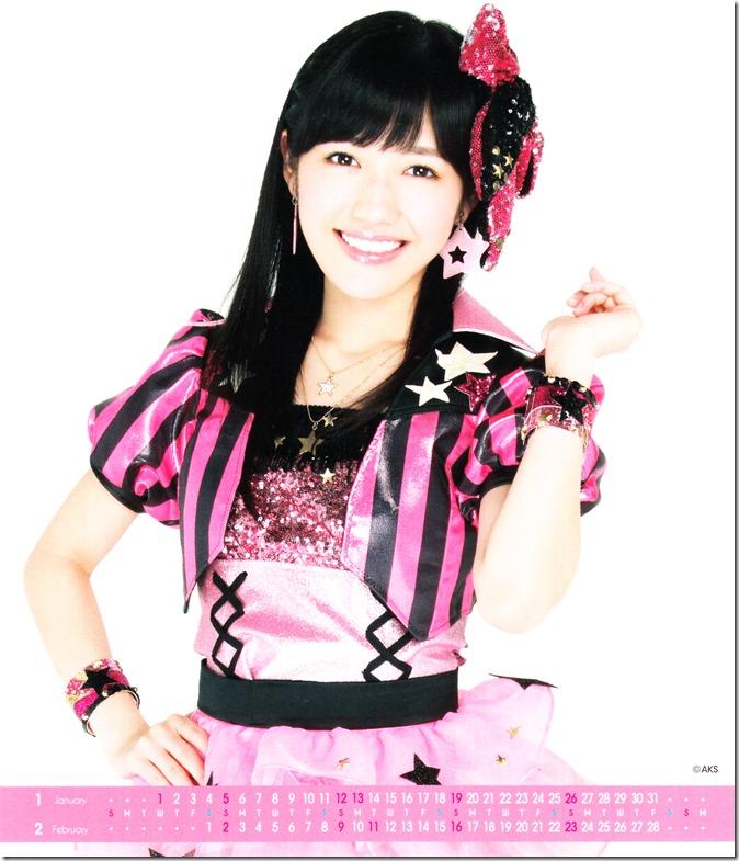 Watanabe Mayu 2014 Desktop Calendar (2)