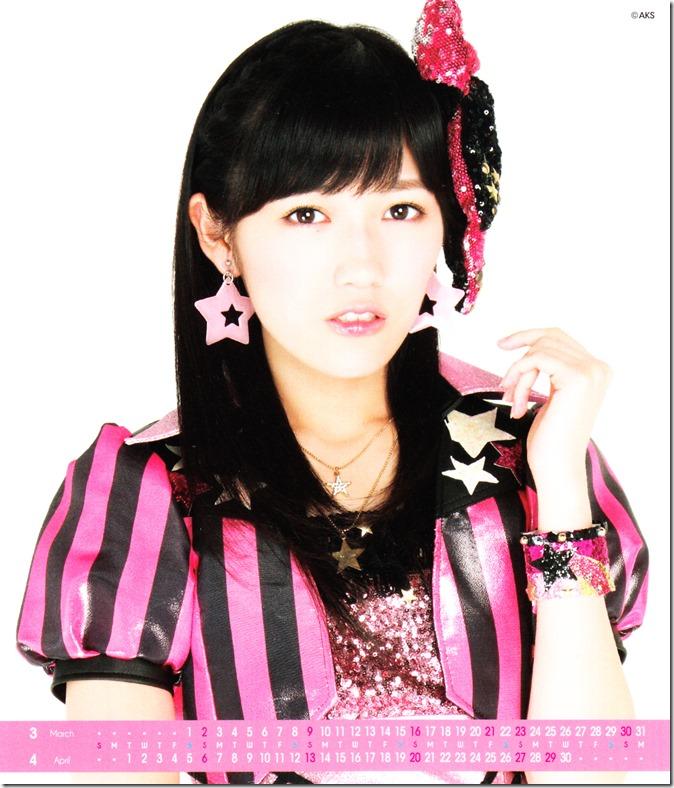 Watanabe Mayu 2014 Desktop Calendar (3)