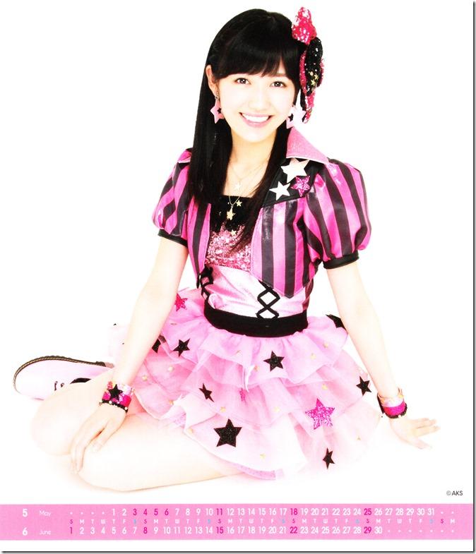 Watanabe Mayu 2014 Desktop Calendar (4)