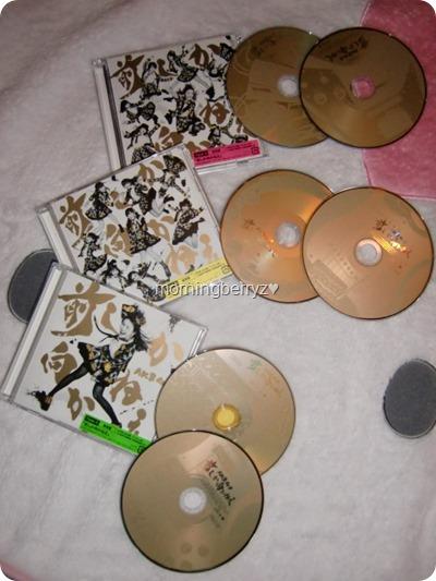 AKB48 Mae shika mukanee singles types A, B & C RE
