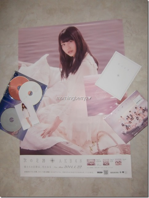 AKB48 Tsugi no ashiato type A box set with first press random poster & member photo extra