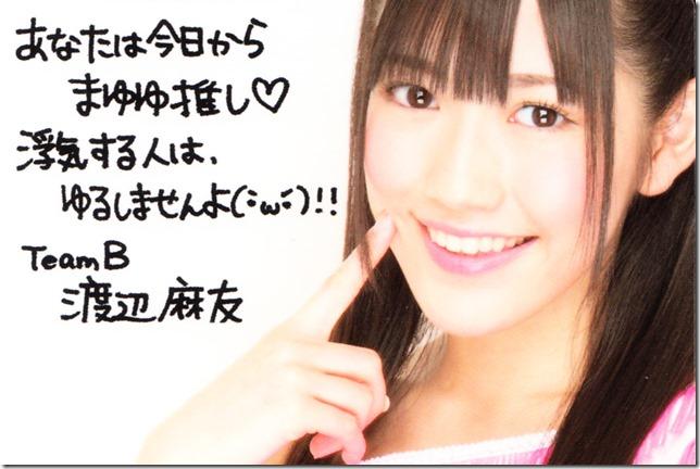 Watanabe Mayu Oshi card (back)
