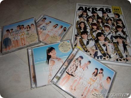 AKB48 Labrador Retriever singles types A, K, B & 4 with member photos