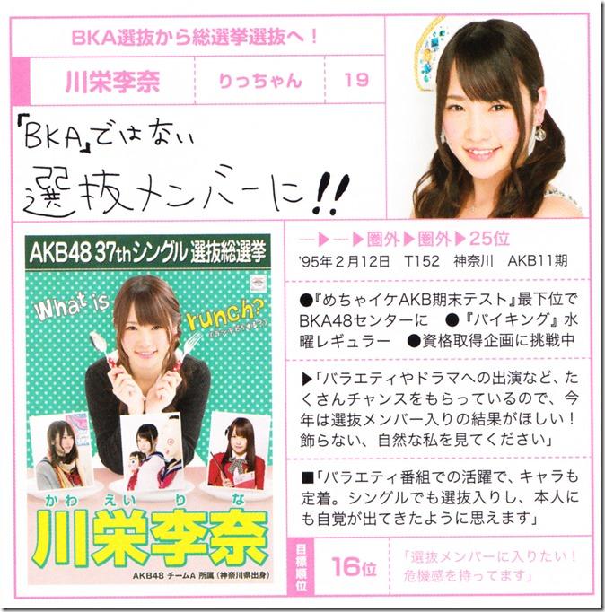 AKB48 Sosenkyo Official Guide Book 2014 (30)