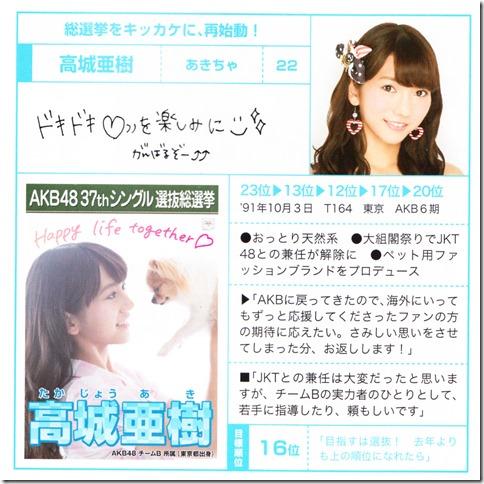 AKB48 Sosenkyo Official Guide Book 2014 (32)