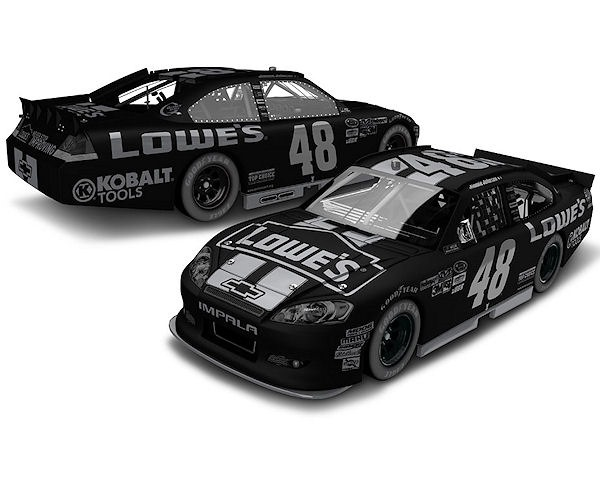 Jimmie Johnson stealth version diecast