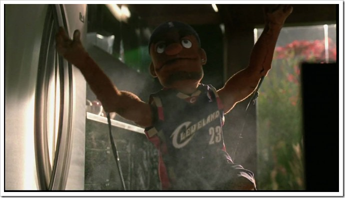LeBron puppet powder power....