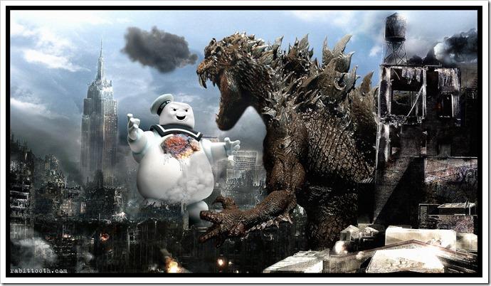 Stay Puft versus Godzilla