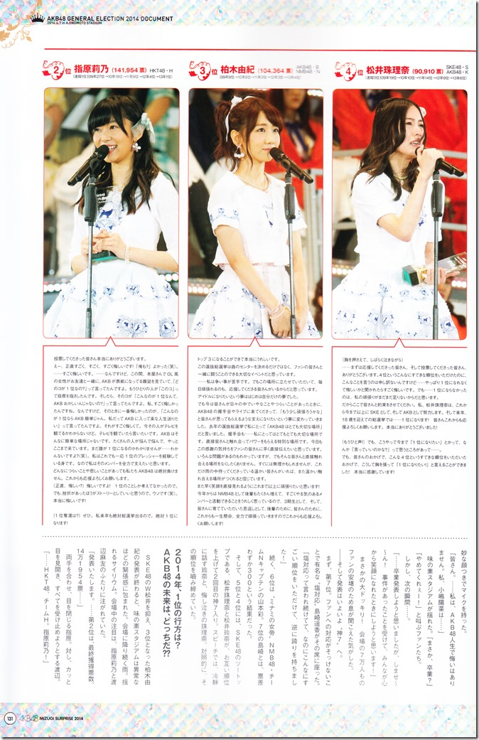 AKB48 2014 Sosenkyo Mizugi Surprise mook (132)