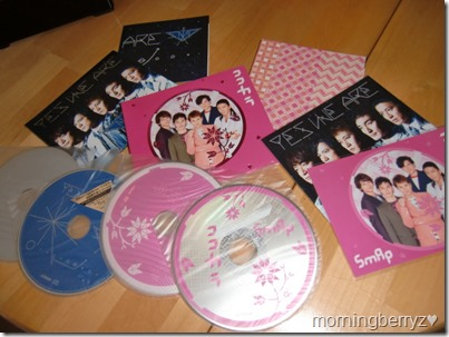 SMAP KOKO KARA & YES WE ARE first press singles with post card bonus