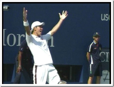 Kei Nishikori defeats Novak Djokovic at the 2014 U.S. Open (2)