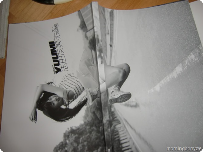 Shida Yuumi 1st shashinshuu (real front & back covers)