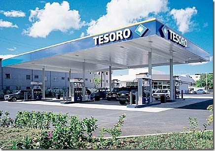 TESORO gas station