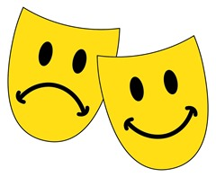 smiley worried drama masks...