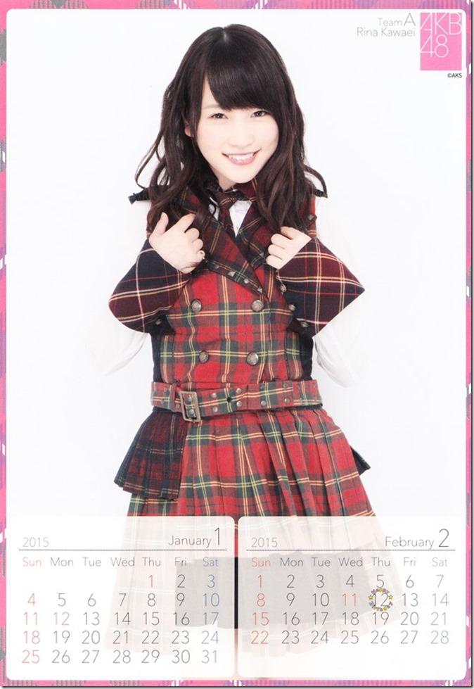 2015 Kawaei Rina desktop calendar (2)