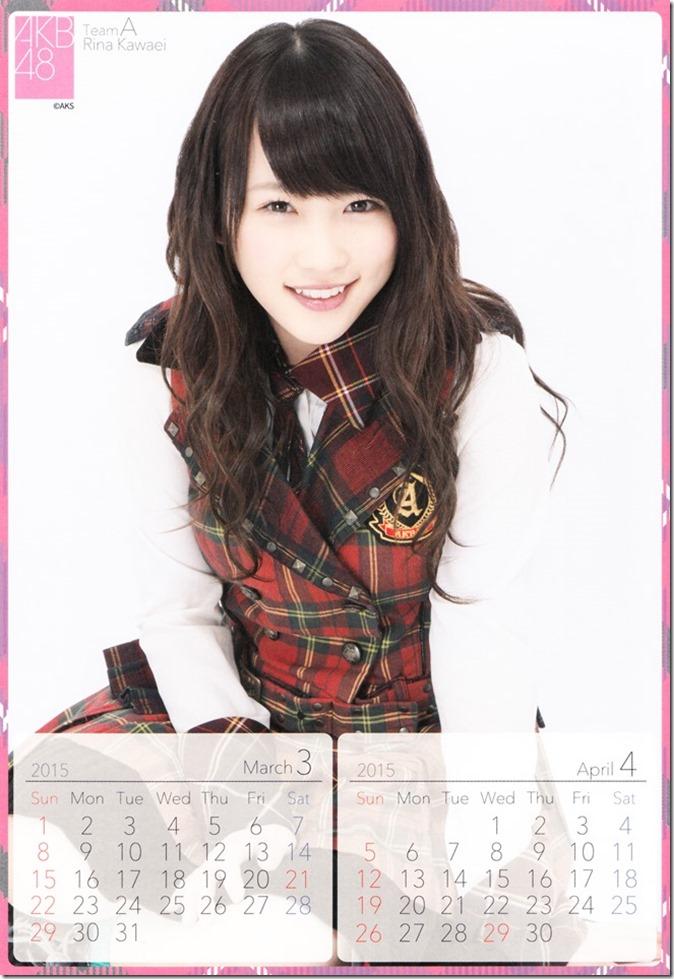 2015 Kawaei Rina desktop calendar (3)