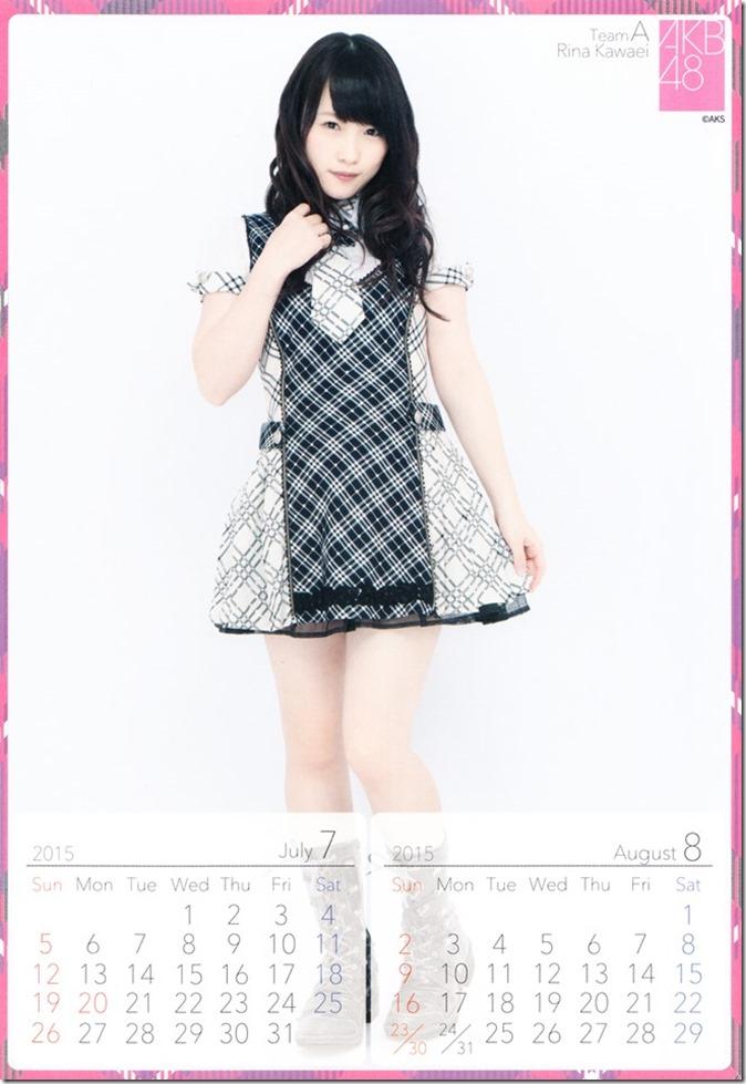 2015 Kawaei Rina desktop calendar (5)