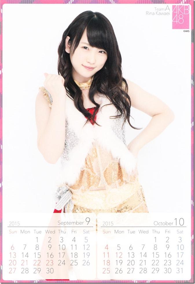 2015 Kawaei Rina desktop calendar (6)