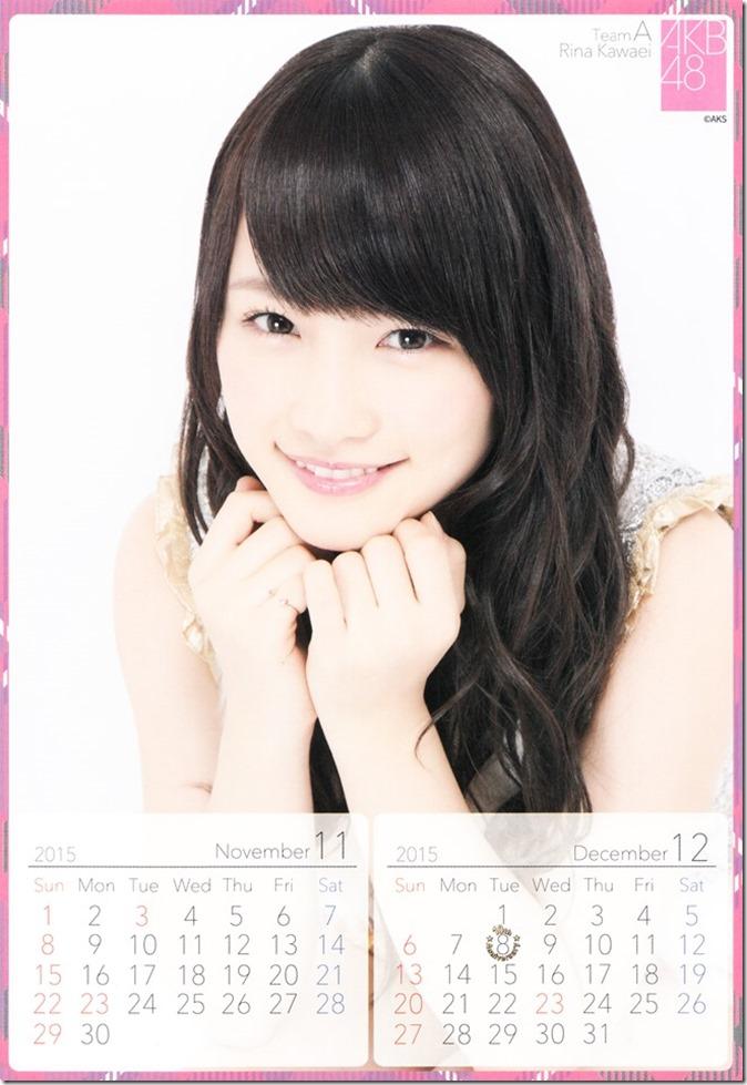 2015 Kawaei Rina desktop calendar (7)
