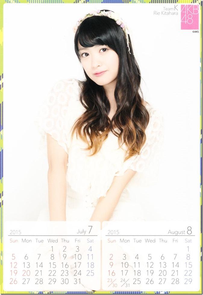 2015 Kitahara Rie desktop calendar (5)
