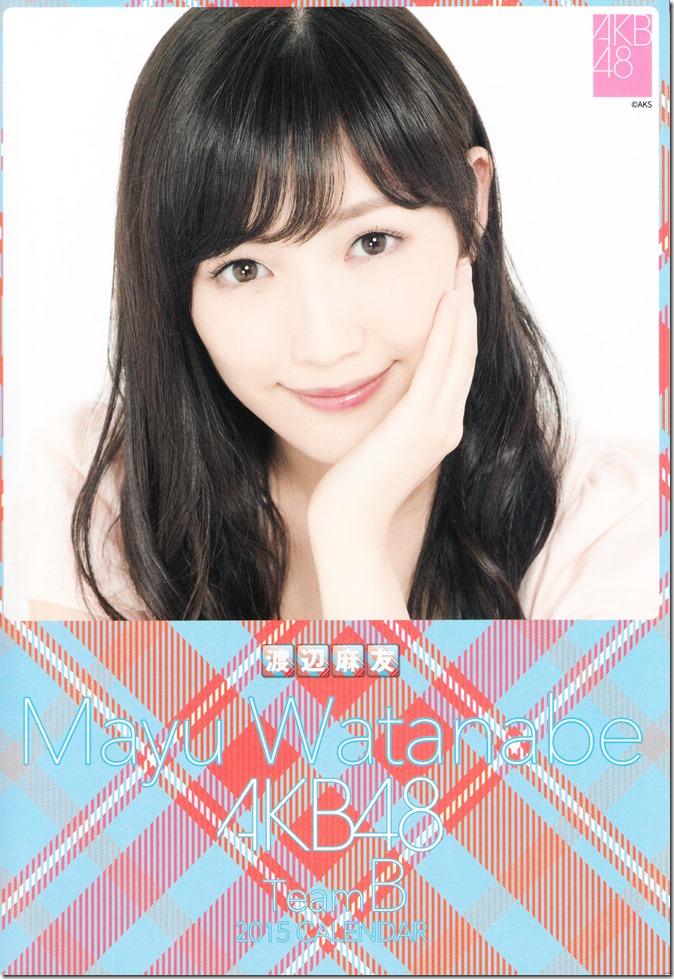 2015 Watanabe Mayu desktop calendar (1)