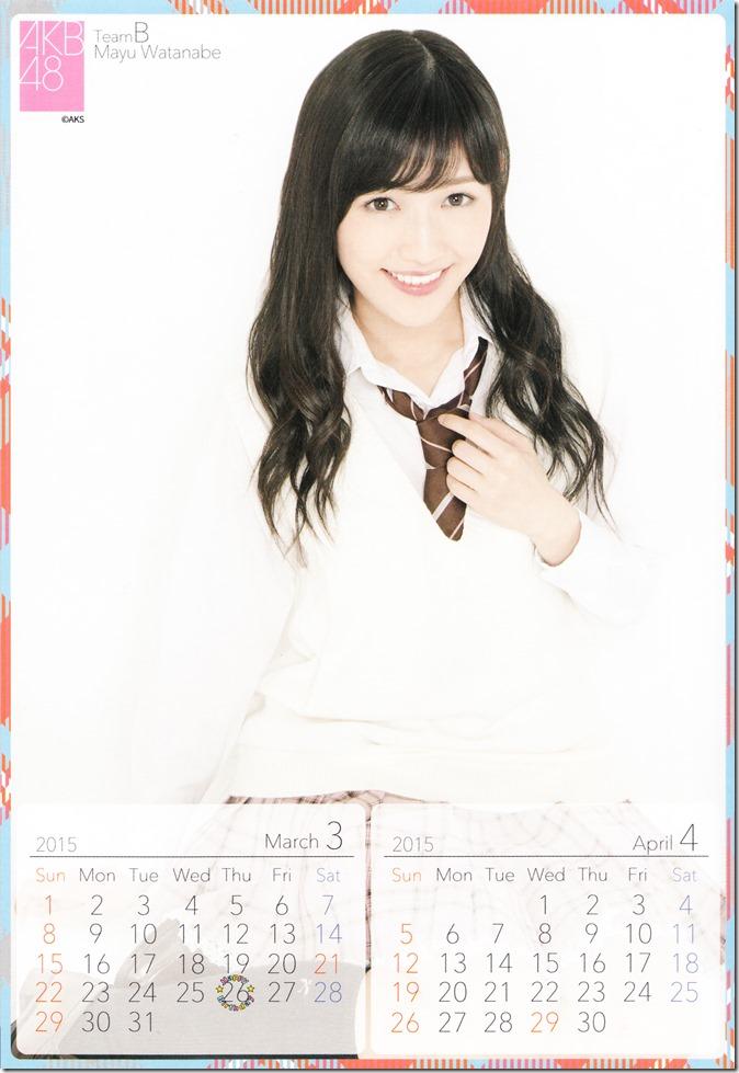 2015 Watanabe Mayu desktop calendar (3)