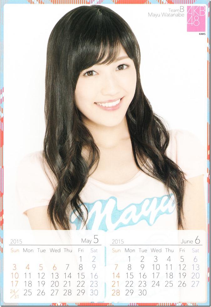 2015 Watanabe Mayu desktop calendar (4)