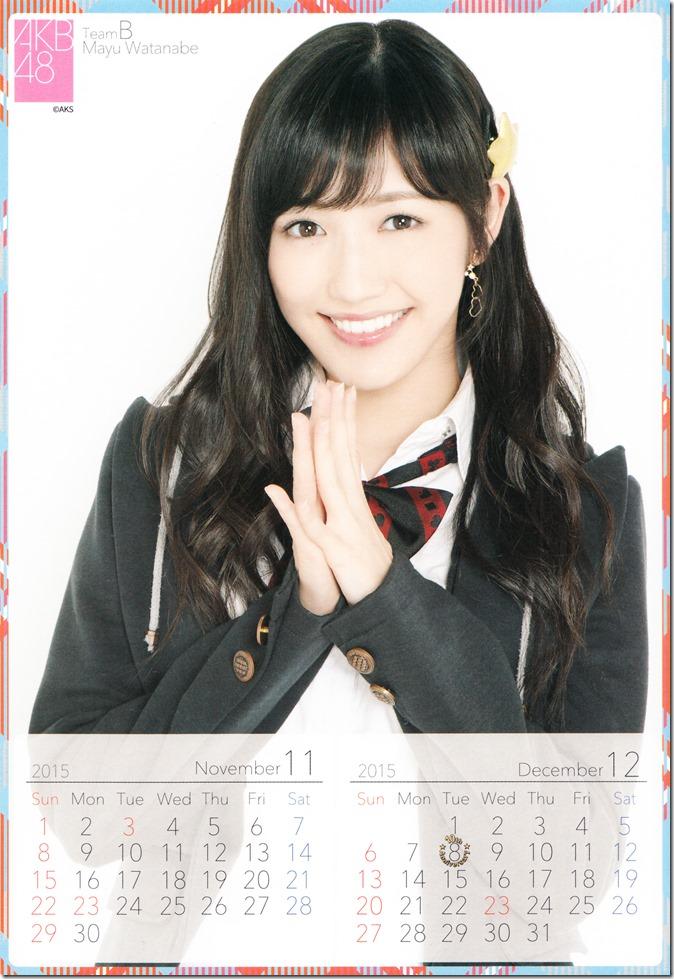 2015 Watanabe Mayu desktop calendar (7)