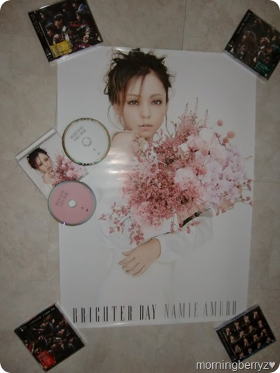 Amuro Namie Brighter Day CD DVD single release with first press poster