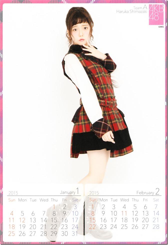 Shimazaki Haruka 2015 desktop calendar (2)